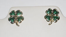 Four Leaf Clover Earrings Shamrock Hearts Silver Tone New St Patrick's Day Irish