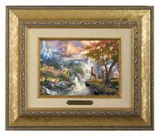 Thomas Kinkade Bambi's First Year Framed Brushwork (Gold Frame)
