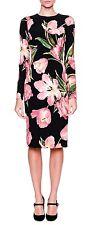Dolce & Gabbana D&G Long-Sleeve Tulip-Print floral dress £1,300 IT42UK10US6EU36