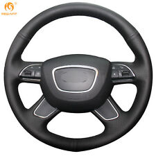 Leather steering Wheel Cover for Audi Q7 2012-15 Q5 Q3 A4 B8 A6 C7 2014-16 #GB06