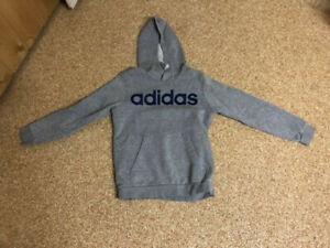 Adidas, Jungen Hoodie, grau, Gr. 152