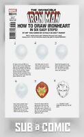 INVINCIBLE IRON MAN #593 ZDARSKY HOW TO DRAW VARIANT (MARVEL 2017) COMIC