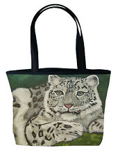 Snow Leopard Handbag, Tote Bag - From My Painting, Highland Veil