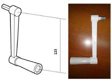 Manivela para torno de persiana, varilla hexagonal 9mm, blanca, blind.