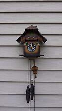 vintage regula german black forest cuckoo clock + chimney sweet clock running