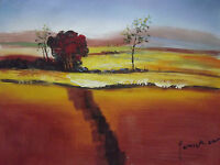 abstract countryside landscape large oil painting canvas contemporary original