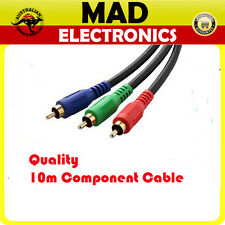 Quality 10m 3RCA RGB Component Video Cable Lead RGB YUV YPbPr Red Green Blue