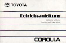 TOYOTA COROLLA 7 E100 Betriebsanleitung 1993 Bedienungsanleitung Handbuch  BA