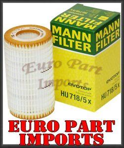Mercedes-Benz Engine Oil Filter Fleece HU718/5X OEM Original Mann Filter Germany