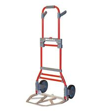 Milwaukee 300-lb Capacity Red Aluminum Folding Hand-Cart Truck Dolley, New