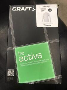 Craft Women's Active Crew Neck Long Sleeve Base Layer White XL
