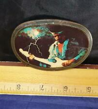 Jimi Hendrix Pacifica Belt Buckle Vintage 1977 Rock Collectible !