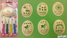 PASQUA DECORAZIONE - Kit di stencil per decorare le uova + pennarelli