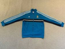 Adidas Real Madrid Niño Full Zip Chándal Top en Azul 2012/13 - 11/12 años