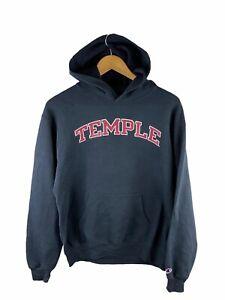 VINTAGE Champion Hoodie Jumper Adult Size M Black Fleece Temple University