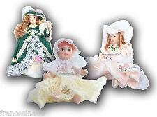 DOLLS HOUSE bambola porcellana vestito vari colori miniatura bambole dollshouse
