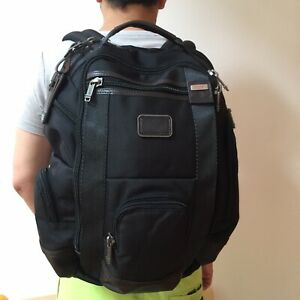 Used TUMI Alpha Style Bravo Shaw Deluxe Laptop Brief Backpack Business Work Used