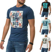 Jack & Jones Herren T-Shirt Print Shirt Casual Kurzarmshirt Color Mix SALE %