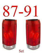 87 91 Ford Tail Light Set, F150, F250, Bronco, Truck, Left & Right Sides!