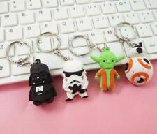 4pcs Star Wars Yoda Darth Vader PVC KeyChain Ornament Key Chains Figure