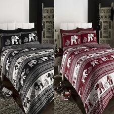 EMPIRE Indian Inspired Elephant Duvet Cover/Quilt Cover Set Bedding Black / Wine