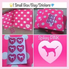 VICTORIA'S SECRET PINK SMALL GIFT BOX/BAG 8x8 *1 FREE SHEET STICKERS*