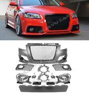 RS3 Look Stoßstange für Audi A3 8P S3 S line Front vordere Kühlergrill Bumper