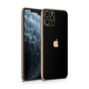 Black Matt Smooth Adhesive Skin Wrap Decal Sticker For Apple IPhone 11/Pro/Max