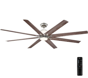 Ceiling Fan Kensgrove 72 in LED Indoor/Outdoor Polished Nickel W/ Remote Control