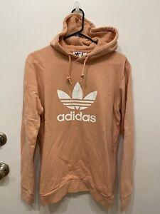 NEW Adidas Trefoil Originals Hoodie Sweater Pink Small