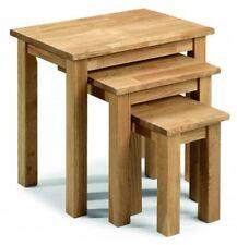 Julian Bowen Coxmoor Nest Of 3 Tables - Soid Oak Oiled Finish