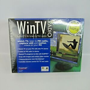 WinTV Radio Model 401 NEW Hauppauge Watch TV & Listen To FM Radio PC Capture
