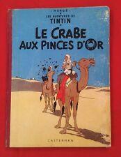 TINTIN CRABE PINCES D'OR 9B28 1960 DOS ROUGE CASTERMAN HERGÉ BD Ref9