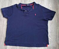 US Polo Assn. Luxury Feel Men's Short Sleeve Blue Polo Shirt Size XL