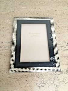 NATALINI  Marquetry Wood Picture Frame Black Houndstooth Ivory Inlay 4x6 Italy
