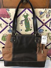 NEW GIANI BERNINI Sandalwood Leather Shopper Tote Purse NWT! Tobacco Brown $189