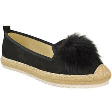 Womens Ladies Espadrilles Flat Pom Pom Sandals Slip On Strappy Comfy Size Shoes