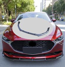 3PCS Carbon Fiber Front Bumper Chin Lip Spoiler Protection For Mazda 3 2019 2020