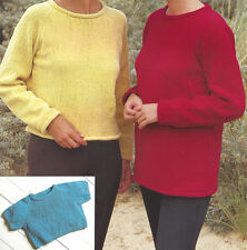 LADIES GIRLS EASY FAST KNIT SWEATERS KNITTING PATTERN 26 to 40 inch (1207)