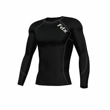 FDX Mens Compression Armour Base Layer Top Long Sleeve Thermal Gym Sports Shirt