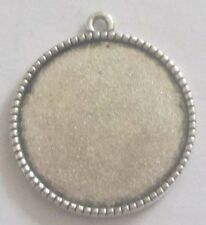 2PCS Antique silver Alloy Cameo Setting Pendant Accessory Inner 25mmX25mm #3060