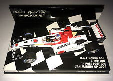 Minichamps F1 1/43 BAR HONDA 006 Jenson BUTTON 1st POLE SAN MARINO GP 2004