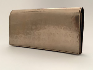 New Ladies Paul Smith Gold Debossed Paisley Pattern Calf Leather Wallet