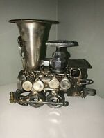 Sonny Dalton Vintage Steampunk Metal Locomotive 4 Wheel Steam Train Sculpture