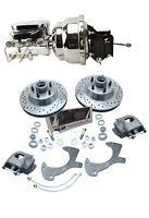 """1952-1978 Ford Truck 8/"""" Dual All Chrome Brake Booster Kit Oval Master Valve"""