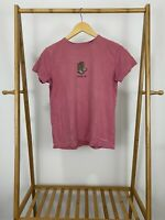 Life Is Good Women's Cowgirl Boots Short Sleeve Coral T-Shirt Size S