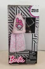 New in Box Barbie Pink Hello Kitty Clothes Shirt Skirt Glasses Fashion Sanrio