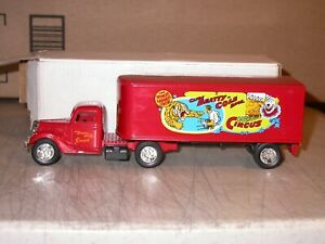 ERTL Clyde Beatty Cole Bros Circus 1937 Ford Tractor Trailer Die Cast 9391 Bank