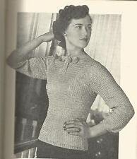 VINTAGE CROCHET PATTERN 1940's AFTERNOON BLOUSE