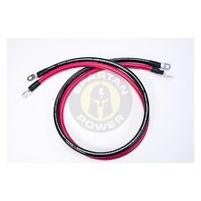 2 Foot 1/0 AWG 0 Gauge Battery Cable Set - Made in America, Many Lengths Avail